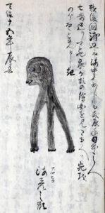 『越前国主記』より「海彦(アマビコ)」(福井県立図書館蔵)